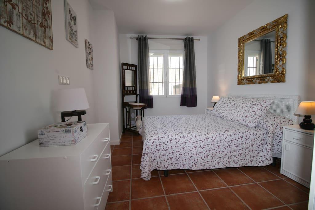 dormitorio 4 - casa chalet con piscina vacaciones rural mazarron murcia