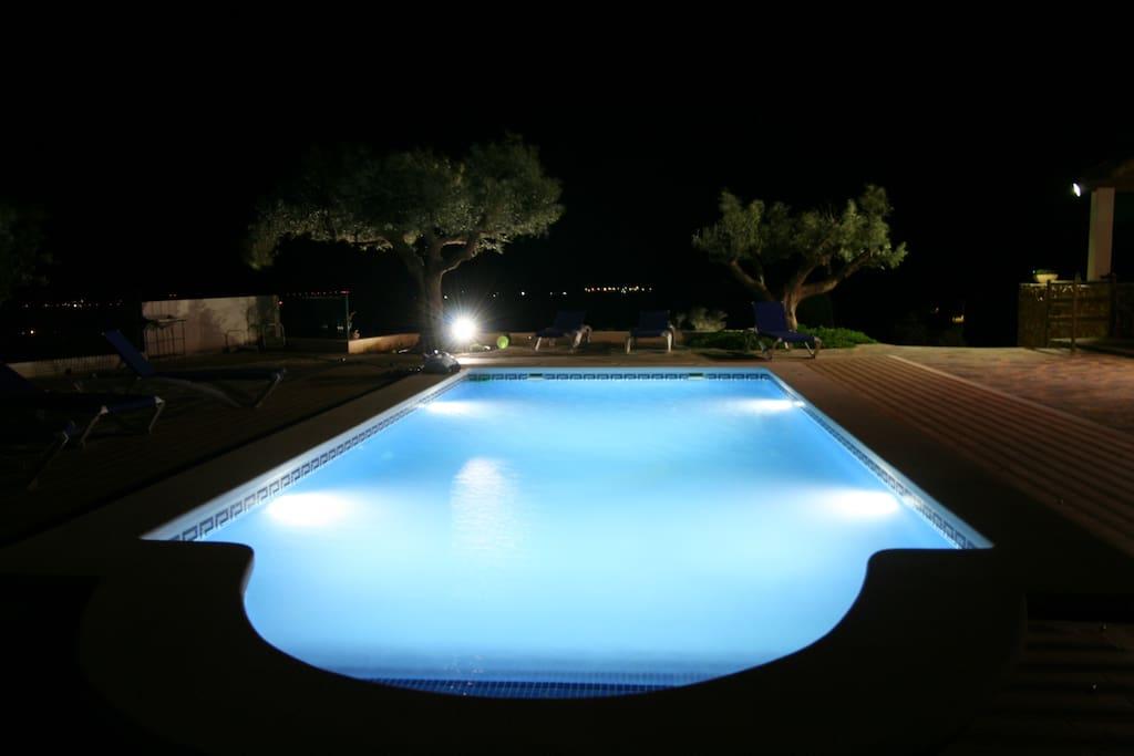 casa chalet con piscina vacaciones rural mazarron murcia - piscina
