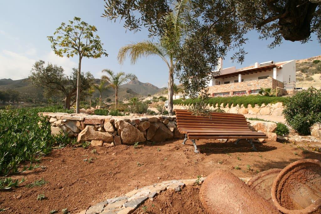 exterior casa chalet con piscina vacaciones rural mazarron murcia