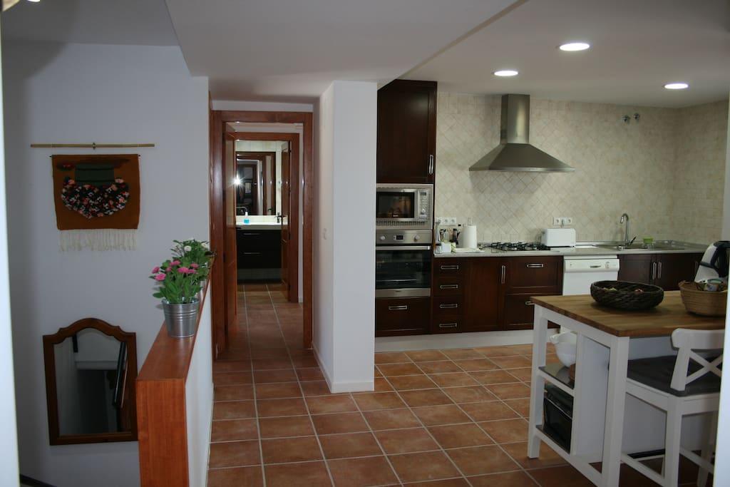 cocina - casa con piscina vacaciones rural mazarron